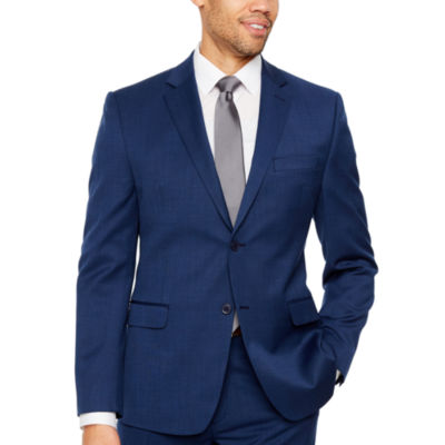 Collection by Michael Strahan  Mens Grid Stretch Slim Fit Suit Jacket-Slim