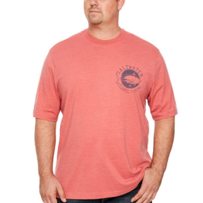 IZOD Atlantic Tuna Graphic Tee Short Sleeve Crew Neck T-Shirt-Big and Tall