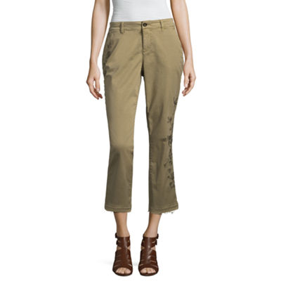 a.n.a Ana Embroidered Chino Crop Capris