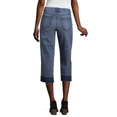 a.n.a Denim Wide Leg Cropped Pants