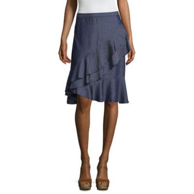 Liz Claiborne Ruffle Flared Skirt