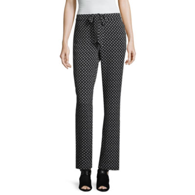 Libby Edelman Diamond Print Soft Pants