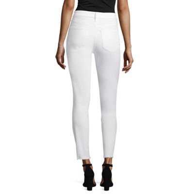 Project Runway Shredded Hem Skinny Jeans