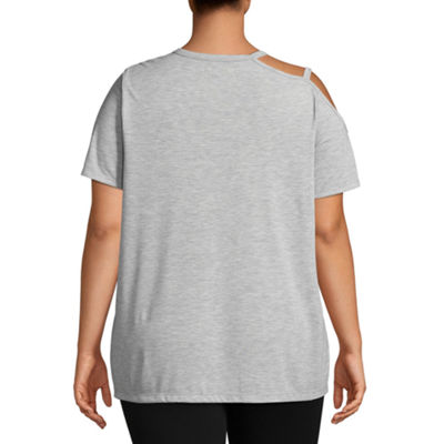 Xersion Short Sleeve Cut Out Tee - Plus