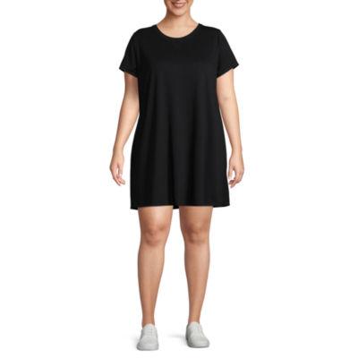 Xersion Short Sleeve Cut Out Back Dress - Plus