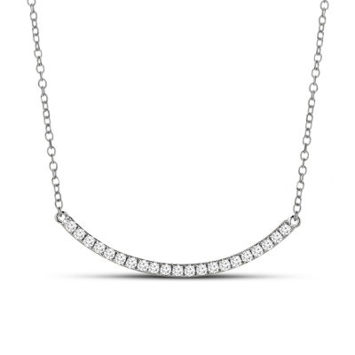 Womens 1/3 CT. T.W. Genuine White Diamond 14K Gold Pendant Necklace