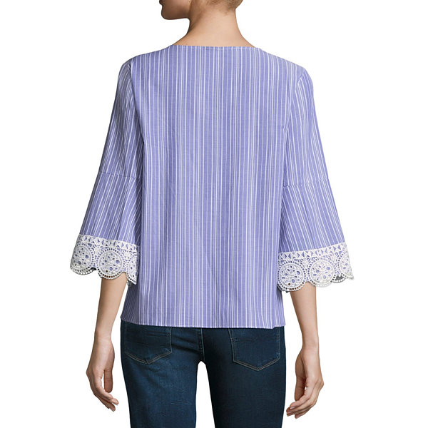 A.N.A Lace Up Drop Shoulder Top - Tall