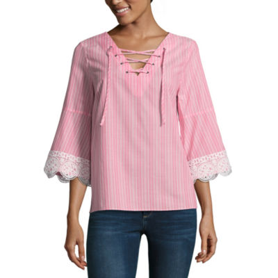 A.N.A Lace Up Top - Tall