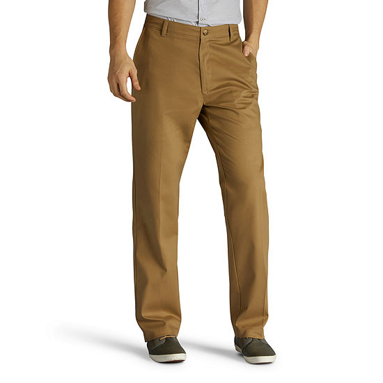 Lee Total Freedom Men's Relaxed Fit Flat Front Pant-Big and Tall