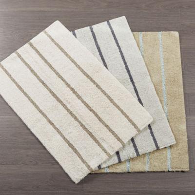 Madison Park Jaden Cotton Tufted Stripe Bath Rug