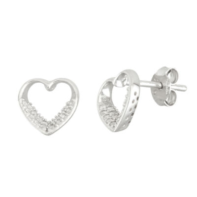 Diamonart 3/8 CT. T.W. Round White Cubic Zirconia Sterling Silver Stud Earrings