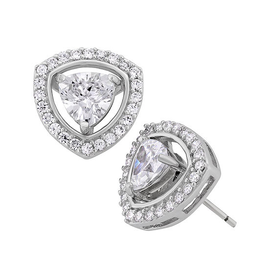 DiamonArt® 3 1/4 CT. T.W. Lab Created White Cubic Zirconia Sterling Silver 13mm Stud Earrings