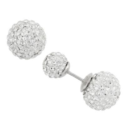 Diamonart 1/3 CT. T.W. Round White Cubic Zirconia Sterling Silver Stud Earrings