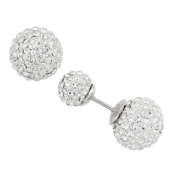 Diamonart 1/3 CT. T.W. Lab Created White Cubic Zirconia Sterling Silver 11mm Stud Earrings