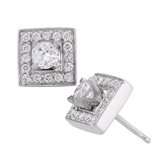 DiamonArt® 2 1/5 CT. T.W. Lab Created White Cubic Zirconia Sterling Silver 10mm Stud Earrings