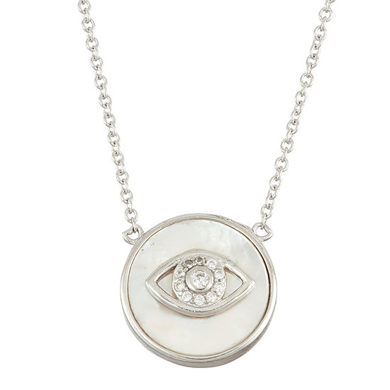 Diamonart Womens 2 1/4 CT. T.W. White Cubic Zirconia Sterling Silver Pendant Necklace