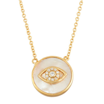 Diamonart Womens 2 1/4 CT. T.W. White Cubic Zirconia 18K Gold Over Silver Pendant Necklace