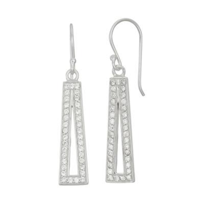 1 1/2 CT. T.W. White Cubic Zirconia Drop Earrings