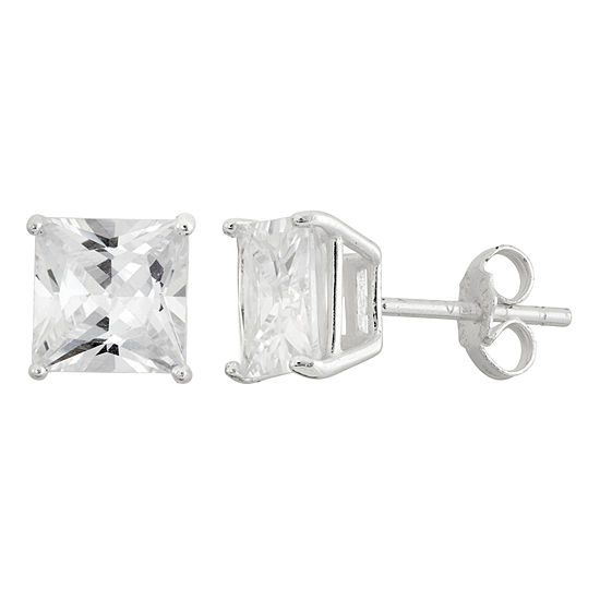 DiamonArt® 4 3/4 CT. T.W. White Cubic Zirconia Sterling Silver 7mm Stud Earrings