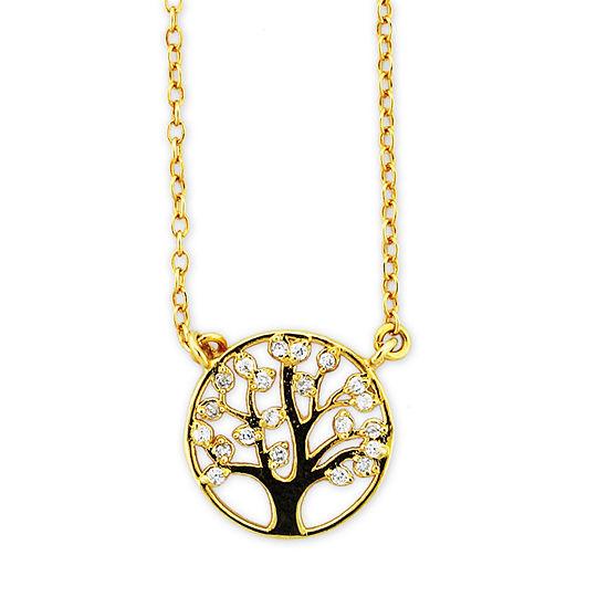 Diamonart Womens Diamond Accent White Cubic Zirconia Sterling Silver Pendant Necklace