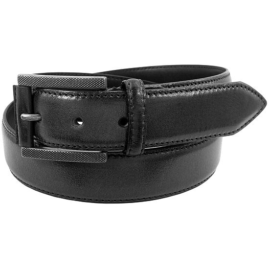 Stacy Adams® 34MM Rivet Finish Etched Buckle Belt