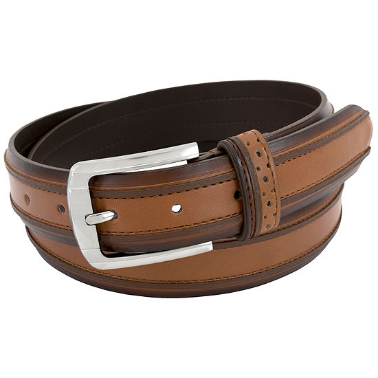 Stacy Adams® Raised Dimension Single Keeper Belt