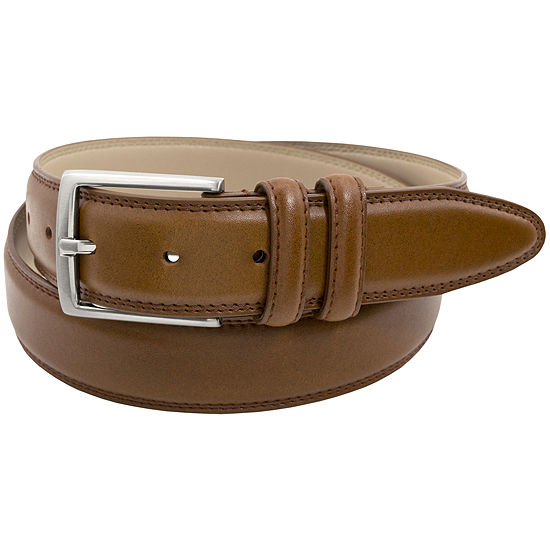 Stacy Adams® 34MM Microfiber Lined Leather Belt with Double Keeper