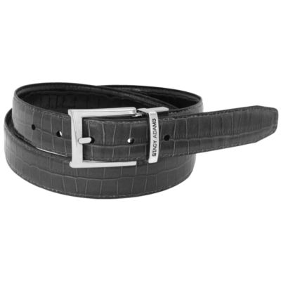 Stacy Adams® 30MM Croc Embossed Reversible Belt