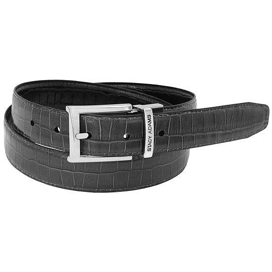 Stacy Adams® 30MM Croc Embossed Reversible Belt