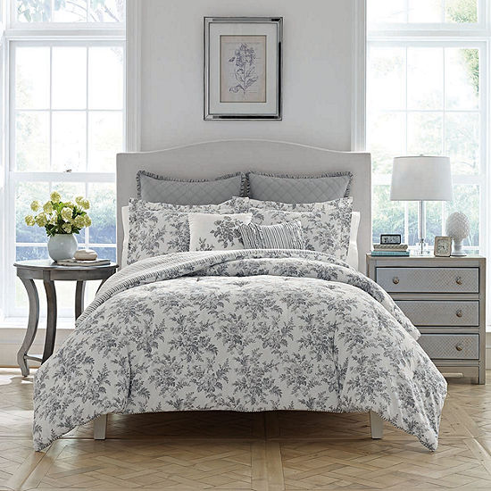 laura ashley annalise comforter set jcpenney. Black Bedroom Furniture Sets. Home Design Ideas