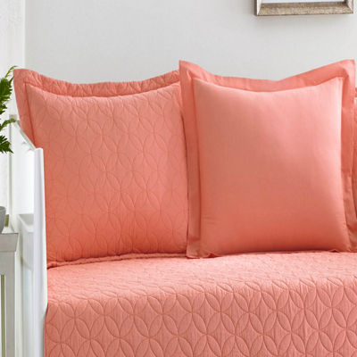 Laura Ashley Solid Coral Daybed Set