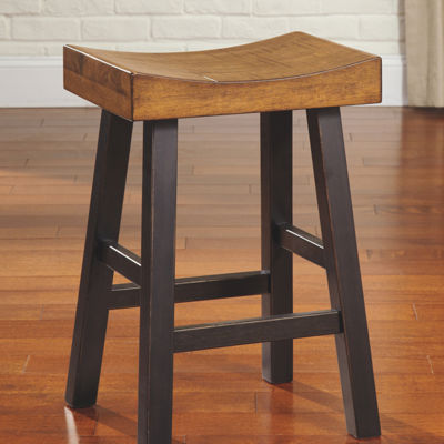 Signature Design by Ashley® Glosco Set of 2 Counter Height Bar Stools