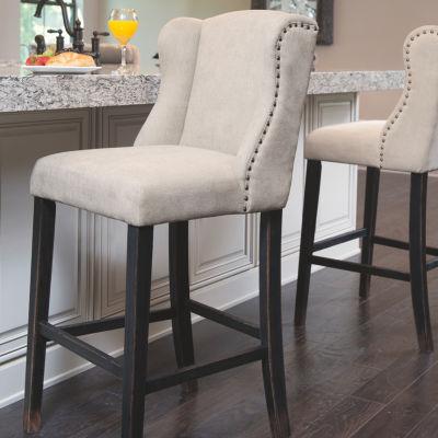 Signature Design by Ashley® Moriann Set of 2 Upholstered Bar Stools