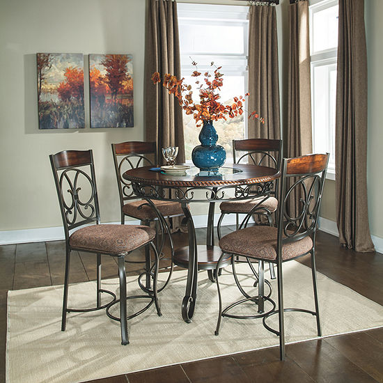 Signature Design by Ashley® Glambrey Set of 4 Upholstered Counter Height Stools