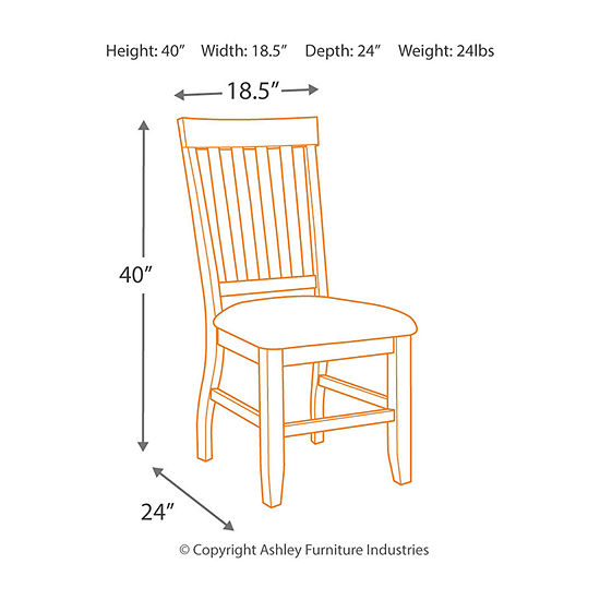 Signature Design by Ashley® Dresbar Side Chairs-Set of 2