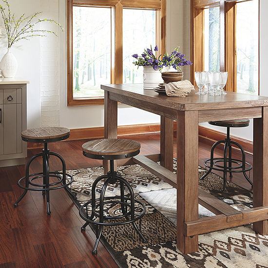 Signature Design by Ashley® Pinnadel Set of 2 Counter Height Swivel Bar Stools