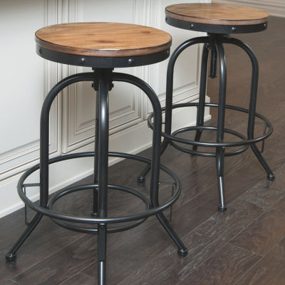 Signature Design by Ashley® Pinnadel Set of 2 Swivel Bar Stools