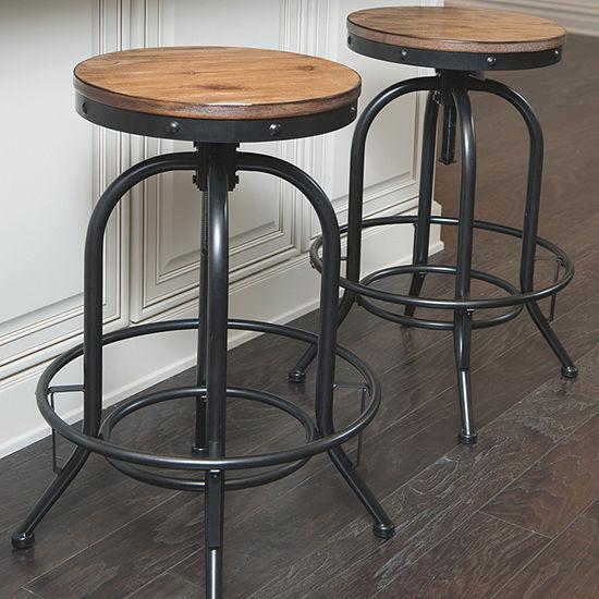 Signature Design by Ashley® Pinnadel Set of 2 Swivel Bar Stools