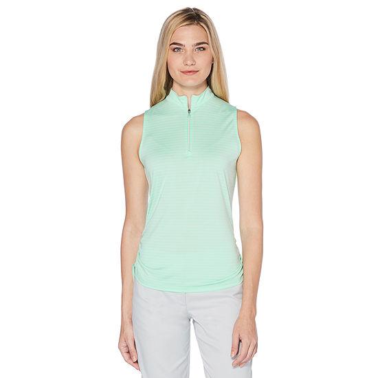 9b0dc36af35e1 PGA TOUR Womens Y Neck Sleeveless Polo Shirt - JCPenney