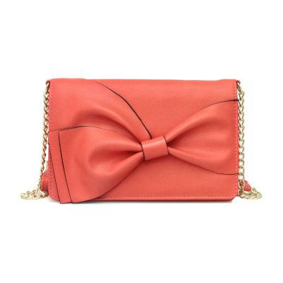 Nicole By Nicole Miller Lizzy Bow Crossbody Bag