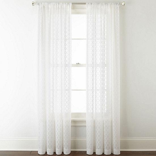 Liz Claiborne Camille Sheer Rod-Pocket Sheer Curtain Panel