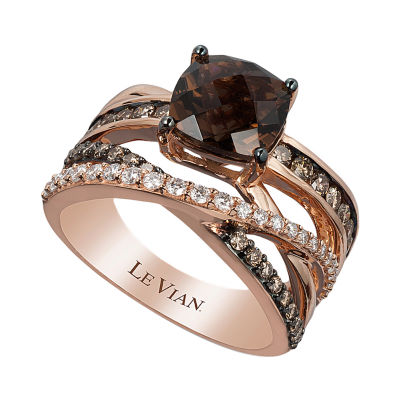 Grand Sample Sale™ By Le Vian® Chocolate Quartz®, 7/8 CT. T.W. Vanilla Diamonds® & Chocolate Diamonds® 14K Strawberry Gold® Ring