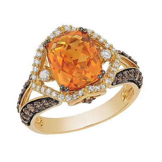 LIMITED QUANTITIES Le Vian Grand Sample Sale™ Ring featuring Cinnamon Citrine®, Vanilla Diamonds®, Chocolate Diamonds® set in 14K Honey Gold™