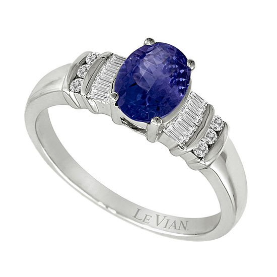 LIMITED QUANTITIES Le Vian Grand Sample Sale™ Ring featuring Blueberry Tanzanite®, Vanilla Diamonds® set in 14K Vanilla Gold®