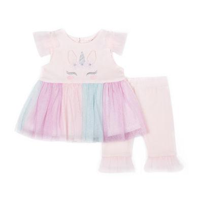 Little Lass Unicorn Tutu 2-pc. Legging Set-Baby Girls