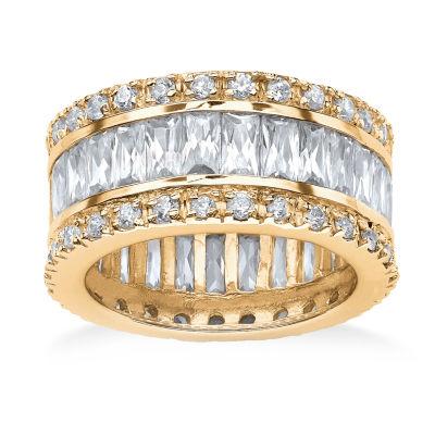 Diamonart Womens 11.5 mm White Cubic Zirconia 18K Gold Over Brass Band