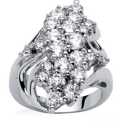 Womens 3 1/2 CT. T.W White Cubic Zirconia Cocktail Ring
