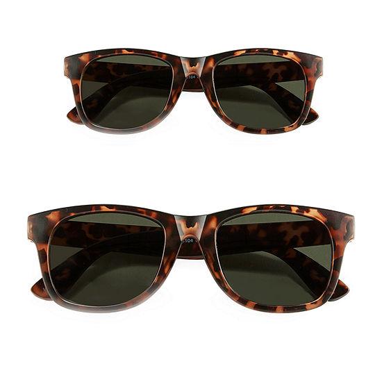 Peyton & Parker Mens Full Frame Square Sunglasses