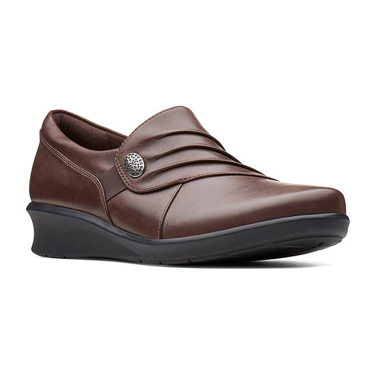 Clarks Hope Roxanne Womens Slip-On Shoes Closed Toe