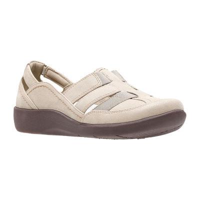 Clarks Womens Sillian Stork Slip-On Shoe Closed Toe